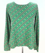 RALPH LAUREN Shirt RLV VINTAGE Womens Striped Sequins SKULLS Purple/Green sz XL