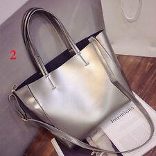 Neu Groß Leder Shopper Damentasche Handtasche Schultertasche Tasche Henkeltasche