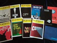 Broadway Playbill collection 20 shows, good to pristine