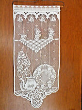 New listing Wall Hanging Dining, Kitchen Wall Decor, look like crochet, ecru or cream color