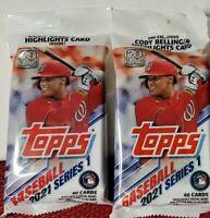 2021 Topps Baseball Series 1 Value Fat Pack 40 Cards Sealed (2) Packs LOT