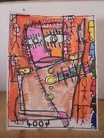 Art Contemporain Art Brut Art Singulier 4004 Oeuvre originale signée JC 21-2-18