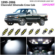 14Bulb LED HID White 6K Interior Light Kit For 1999-2006 Chev Silverado Crew Cab