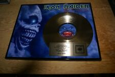 Iron Maiden Presented To Tower Records Gold Record Award Rock In Rio