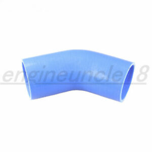 """New 4Ply 2.75"""" inch 70mm ID 45 Degree Silicone Hose Coupler Pipe Turbo Blue"""