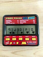 Vintage RADICA VIDEO POKER Royal Flush 2000 Model 410 Electronic Handheld Tested