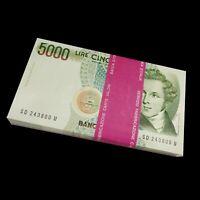 Lot 100 PCS, Italy 5000 5,000 Lire, 1985, P-111, Signature vary, UNC, Bundle