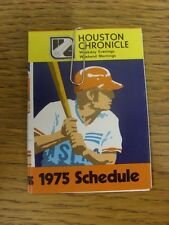 1975 Fixture Card: Baseball - Houston Astros (fold out style). Any faults with t
