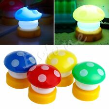 Fairytale Mini Mushroom Press Down Touch LED Night Light Lamp Kids Baby Bedside