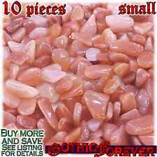 10 Small 10mm Combo Ship Tumbled Gem Stone Crystal Natural - Quartz Peach
