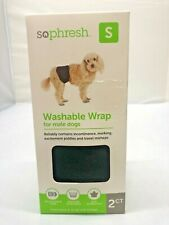 So Phresh Washable Wrap for Male Dogs, Small