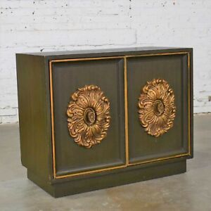 Mid Century Hollywood Regency Lane Small 2 Door Credenza Style J Mont or D Drape