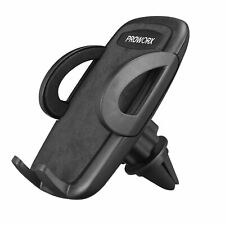PROWORX Car Vent Clip Durable Mount Phone Holder All Black With Soft Padding