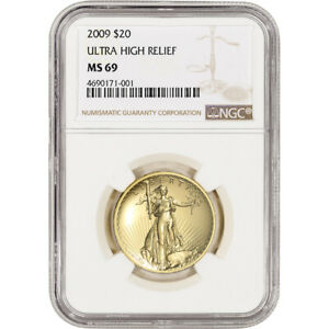 2009 US Gold $20 Ultra High Relief Double Eagle - NGC MS69