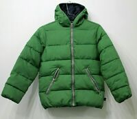 United Colours Of Benetton Girls Green Hooded Puffer Coat Jacket 10 12 Years