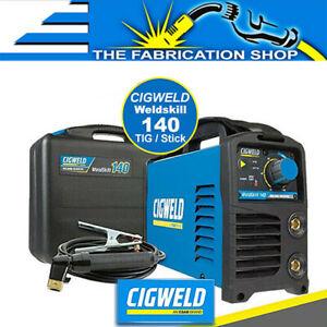 Cigweld Weldskill 140 TIG STICK Welder 10 Amp Single Phase DC Lift Arc W1008140