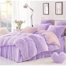 Soft Purple Blanket Long Shaggy Cozy Fluffy Faux Fur Sheet Bedding Throw 1.6*2M