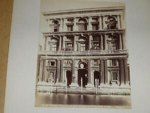 Naya / Venice Venezia 1870 Palazzo Grimani Gran Canale Vintage Albumen Print