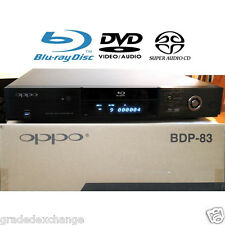 OPPO DIGITAL BDP-83 BLU-RAY DVD PLAYER USED w/ SACD DVD-AUDIO VRS TECHNOLOGY