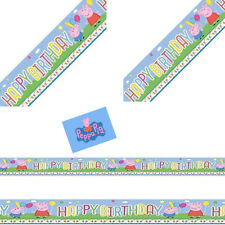 Peppa Pig Cute Carnival Birthday Children Party Foil Banner Decoration12.5x365cm