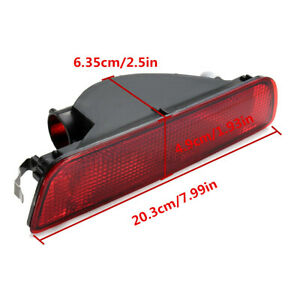 Rear Bumper Reflector Fog Light Lamp Lens For Nissan Qashqai 2007-2014 UK