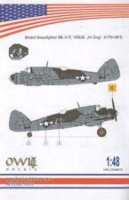 Owl 1/48 Bristol Beaufighter Mk.VIF V8828, Hi Dog 417th NFS # S4818