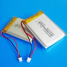 2 pcs 1200mAh 3.7V Lipo 603450 JST 1.25mm Battery battery For PAD DVD Camera GPS