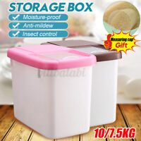 22lbs Plastic Cereal Dispenser Storage Box Kitchen Dry Food Grain Rice Contain