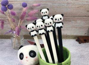 8pcs Cute Kawaii Lovely Panda Gel Ink Roller Ball Point Pen School Kids Pens