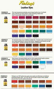 Fiebing's Leather / Pro / Acrylic Leather Dye Paint Shoes Belts Cars Bottle 4 oz