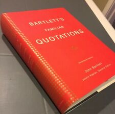 Bartlett's Familiar Quotations:  Hardcover and free shipping