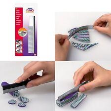 Fimo Cutter, Messer Set 3tlg, Modelliermasse Cuttermesser, geriffelte Klinge