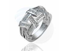 Size 5.5 Ashbury Metal 18K White Gold Plated Rhinestone Crystal Ring
