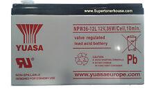 Batteria Piombo YUASA NPW36-12 12V 7.2A 36W/Cell, 10min. per Ups,Antifurti
