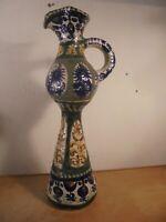 Céramique Vintage 50 Importante Aiguière Faite Main KÉRALUC Quimper L'Helguen