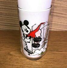 Vintage Mickey Mouse Club 12oz Drinking Glass Disney Souvenir Cup.