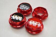 BBS RS RC Hex Nuts RED Center Caps 15 16 17 18 19 Inch Small Thread 58mm Vw Bmw