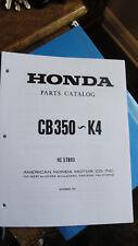 HONDA CB350 K0 K1 K2 K3 K4 PARTS CATALOG MANUAL NOVEMBER 1972
