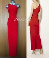 NWT UK 12 Glamour KAREN MILLEN Red One Shoulder Cocktail Pencil Long Maxi Dress