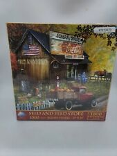 SunsOut 1000 Piece Jigsaw Puzzle Seed and Feed Store by Tom Wood Oversized New