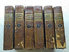 """1802 """" OPERE """"  di Pietro METASTASIO , ed.Tealdo Genova con INCISIONE , 6 volumi"""