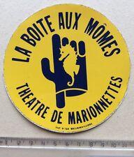 Autocollant La Boîte Aux Mômes Théâtre de Marionnettes Hippocampe Année 70/80