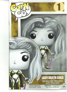 Lady Death Chaos Rules 1 CHASE EDITION GOLD NM FREE UK POST