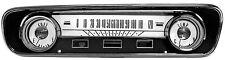Mustang Instrument Cluster Gauges White Dash Face Kit 1964 1965 64 65 200 289 V8