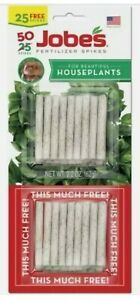 Fertilizer Spikes For Houseplants ~Jobes ~50 Spikes~ NEW In Package