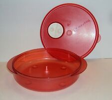 Tupperware Rock N Serve Container 3 1/4 Cups RED Microwaveable SHALLOW New