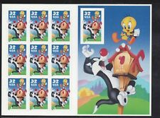 US Scott # 3204 Tweety & Sylvester Mint Pane of 10 issued in 1998