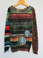 DESIGUAL Long Sleeve Knit Sweater Women's Jumper Size S