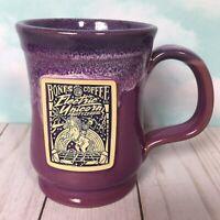 Bones Coffee Company Deneen Pottery Mug 2018 ELECTRIC UNICORN Purple 14oz