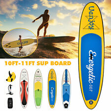 5af49ddab 10   11  Inflatable SUP Stand up Paddle Board Surfboard Adjustable Fin  Paddle